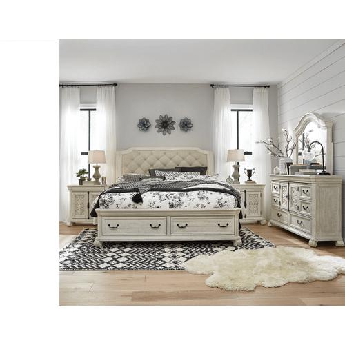 King Storage Bed, Dresser, Mirror, Chest and Nightstand