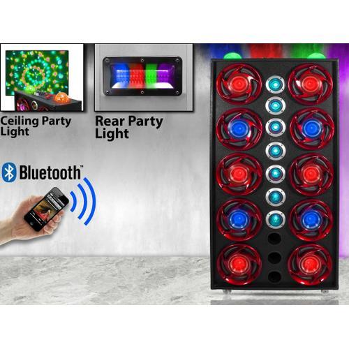 "XPARTY 10 X 8"" Subwoofer 10,000 Watt Bluetooth Speaker"