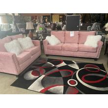 See Details - Mongolian Pink Sofa and Loveseat