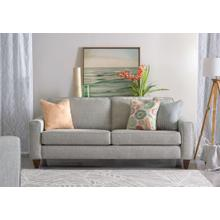 Wood House Upholstery Riverside Loveseat- Columbia Mist