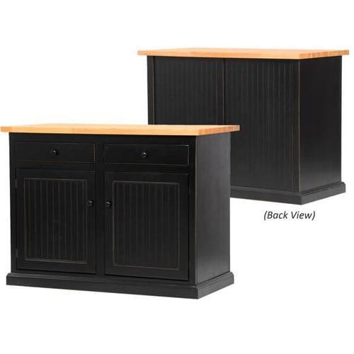 American Heartland Manufacturing - Poplar Kitchen Island with Choice of Top