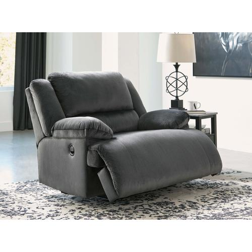 Clonmel Wide Seat Recliner - Charcoal
