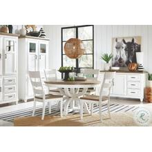 """See Details - 54"""" Round Table & 4 Chairs"""