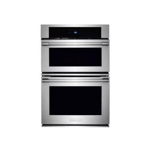 Electrolux Icon - 30 Inch Combination Electric Wall Oven with Convection, Sensor Cooking, Automatic Cooking, Cook-2-Perfection, Wave-Touch Controls, 6.3 cu. ft. Total Capacity, Theater Lighting, Cool-Touch Oven Door, Self-Clean and Star-K Certified Sabbath Mode