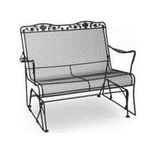 Dogwood Wrought Iron Glider Loveseat