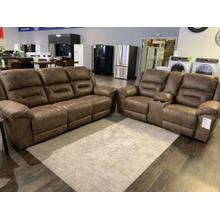 See Details - Ashley Fossil Reclining Sofa and Loveseat