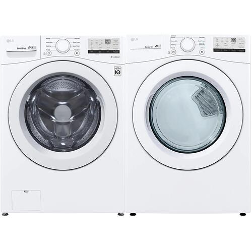LG Front Load Laundry Set (WM3400CW & DLE3400W)