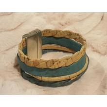 Large bicolor bracelet