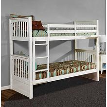 Twin over Twin Pulse Bunk Bed in White