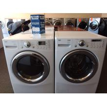 Refurbished White LG Front Load Washer Dryer Set. Please call store if you would like additional pictures. This set carries our 6 month warranty, MANUFACTURER WARRANTY AND REBATES ARE NOT VALID (Sold only as a set)