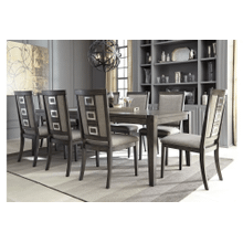 Chadoni - 9 Pc. - Rectangular Extension Table & 8 Upholstered Side Chairs