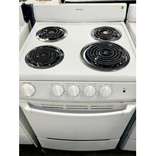 "USED- Hotpoint® 24"" Compact Electric Range White- E24WHCOIL-U SERIAL #7"