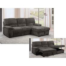 See Details - Tesarro Futon sectional with storage