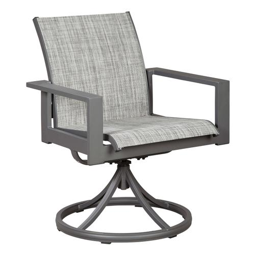Ashley Furniture - Okada Outdoor Dining Table with 4 Swivel Chairs