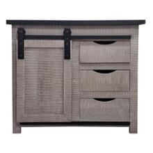 See Details - BD3334 Grey Accent Cabinet
