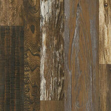 Architectural Remnants L6626 Woodland Reclaim Laminate - Old Original Wood Brown Varying Widths: 3.54, 5.59, 7.64 in. Wide x 47.83 in. Long x 12 mm Thick, Low Gloss