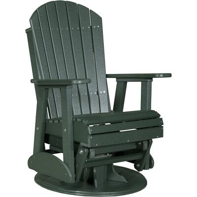 Adirondack Swivel Glider 2' Green