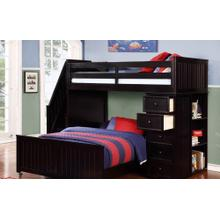 Multi-Purpose Loft - Twin Full Bunk Bed - Espresso