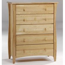 Clove 5 Drawer Chest Natural Finish