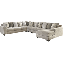 Ardsley III Sectional Pewter Right