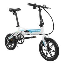 SWAGTRON EB5 Pro City & Campus Folding eBike, Pedal-To-Go - Blue