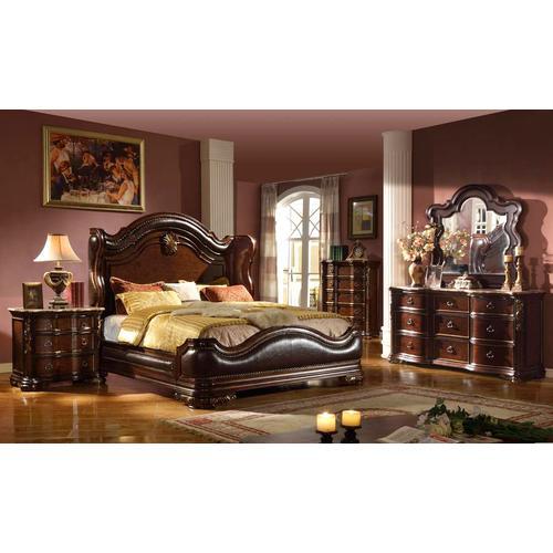 Mcferran Home Furnishings - Arabella 8 Piece King Bedroom Suite