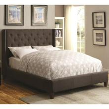 Cal. King Upholstered Bed with Button Tufting