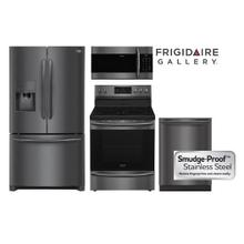 Frigidaire Gallery Smudge-Proof Black Stainless Kitchen Package with French Door