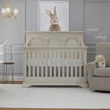 Amherst 4-in-1 Lifetime Convertible Crib - Antique White