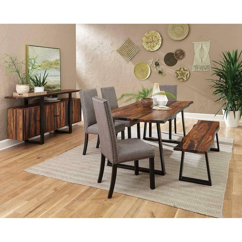 Jamestown Rustic Grey Dining Table & 6 Jamestown Dining Chairs