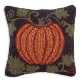 18 Hooked Wool Pillow Harvest Pumpkin