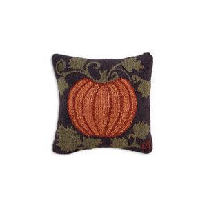 18 Hooked Wool Pillow Harvest Pumpkin