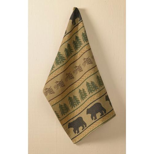 Bear Tracks Dishtowel