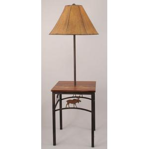 Moose End Table Tray Lamp