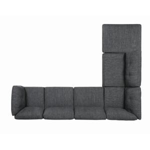 Dark Grey 6PC Sectional