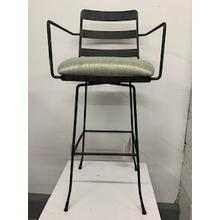 """See Details - """"Presley"""" Swivel Bar Stool with Arms"""