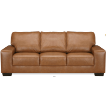 View Product - Leather Sofa in Raven Leather Color