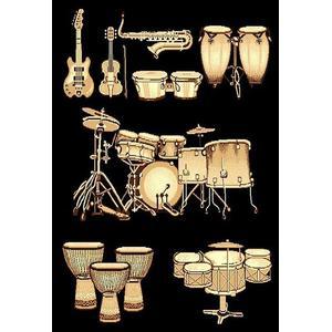 Medium - Adventures Drums 3 5x8 Rug