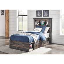 Drystan - Multi - Twin Bookcase Bed with Storage