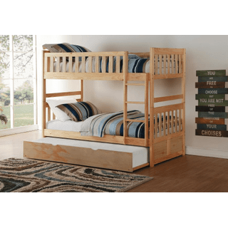 Bartly Bunk Bed Twin on Twin with Twin Trundle