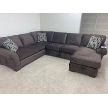 Stanton 2-pc. Chaise Sectional in La Paz Pewter