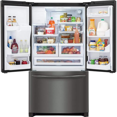 Product Image - Frigidaire Gallery 21.9 Cu. Ft. Counter-Depth French Door Refrigerator in Black Stainless