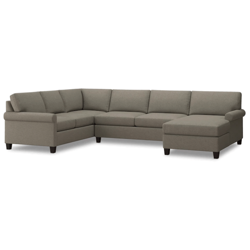Bassett Furniture - Spencer Right Chaise Sectional - Dove Fabric