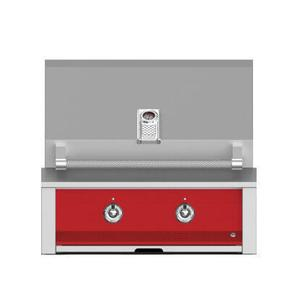 "Aspire By Hestan 30"" Built-In U-Burner and Sear Grill NG Matador Red"