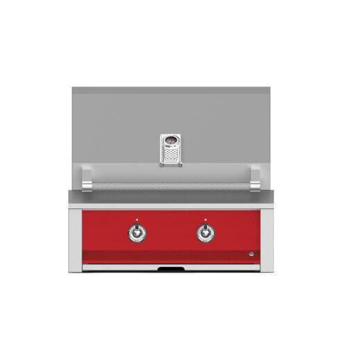 "Hestan - Aspire By Hestan 30"" Built-In U-Burner and Sear Grill NG Matador Red"