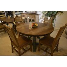 IFD round wooden pedistal dining table.