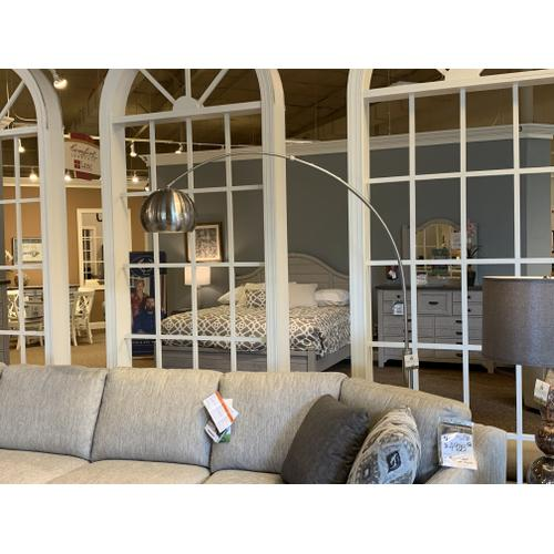Tyndall Furniture & Mattress - Arc Floor Lamp - Brushed Nickel