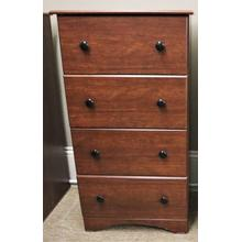 """See Details - 4 Drawer Chest - Cinnamon Fruitwood - 23"""""""