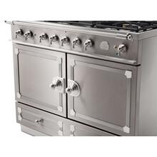 CornuFe 110 Dual Fuel Range -  Stainless Steel with Stainless Steel and Polished Chrome Trim