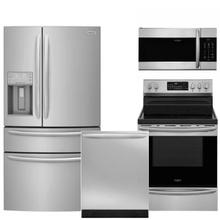 Frigidaire Gallery Premium Kitchen Package with AirFry Range in SmudgeProof Stainless Steel